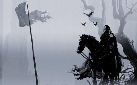 Skeleton-Horseman-Abstract-Background